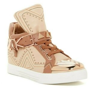 🆕Ivy Kirzhner Women's High Top Sneakers Brown 8.5